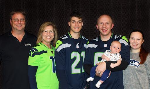 Johnson family photo at Seahawks game