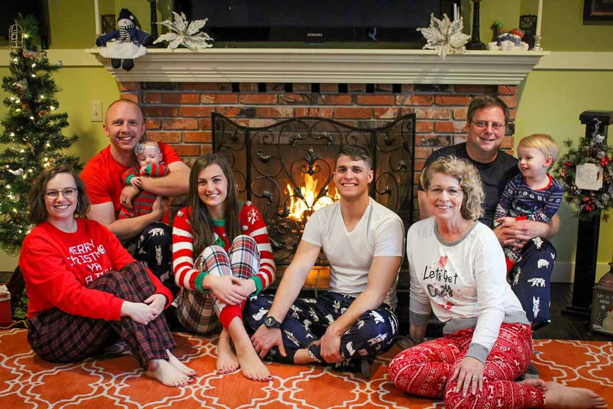 Photo of the Johnson Family Christmas Morning