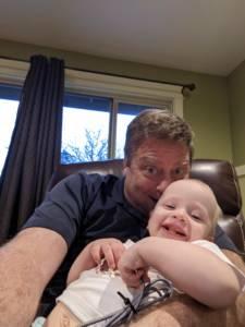 Brian Johnson with grandchild