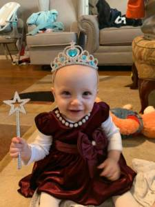 Granddaughter dressed as a princess